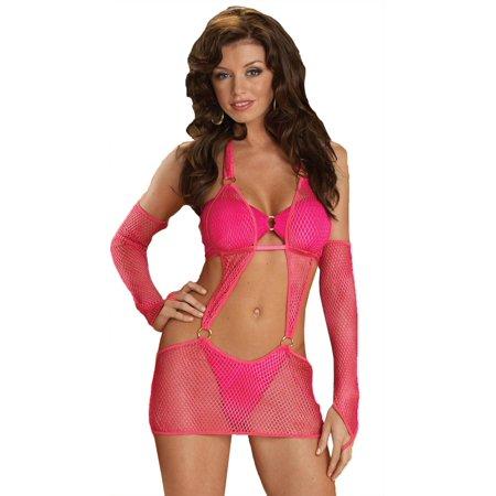 Halter Dress Net Pink Small - image 1 de 1