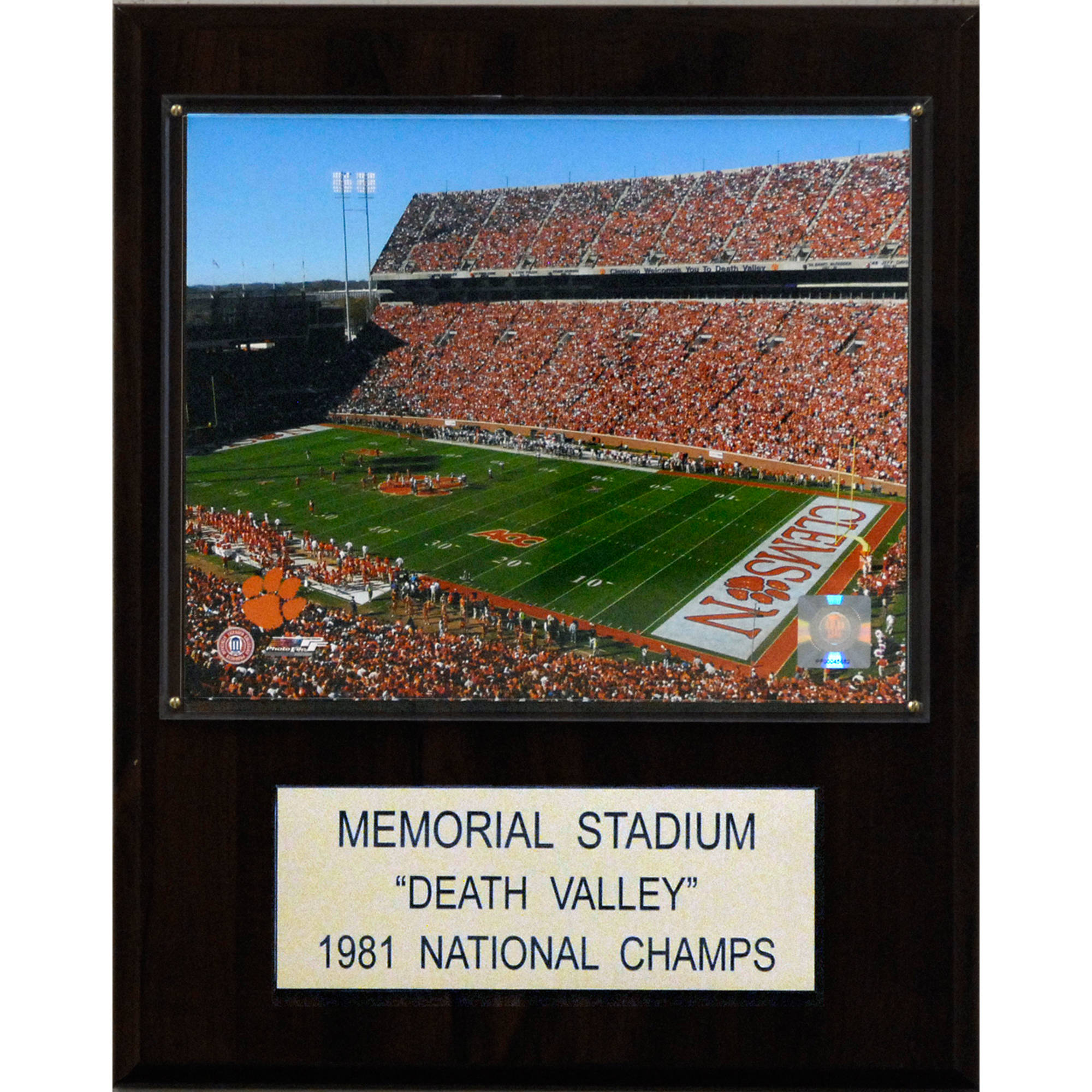 C&I Collectables NCAA Football 12x15 Memorial Stadium (Clemson) Stadium Plaque