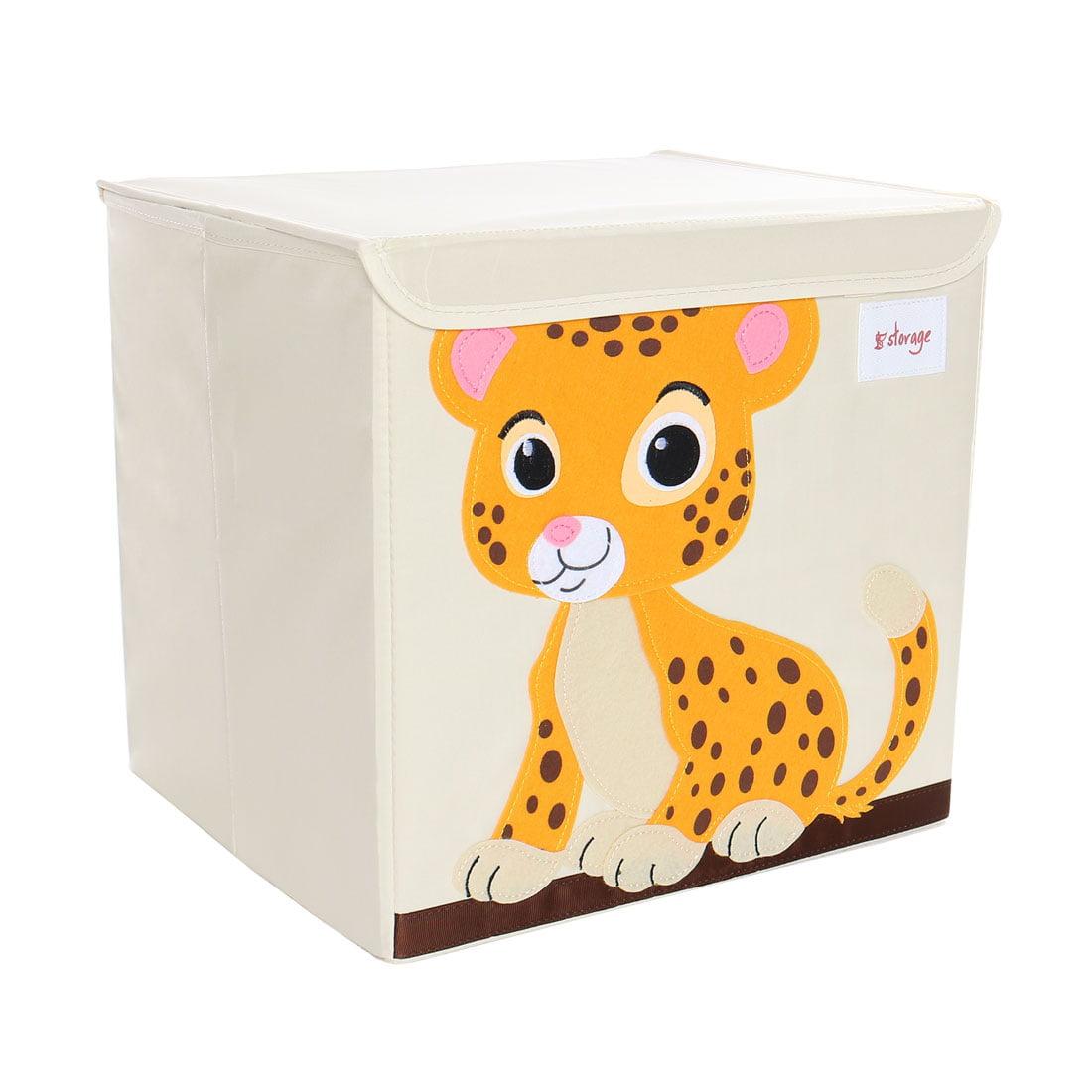 Foldable Toys Storage Bins Cartoon Cardboard Fabric Cubes