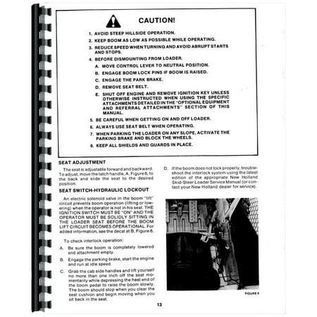 New Holland L555 & Deluxe Skid Steer Operators Manual
