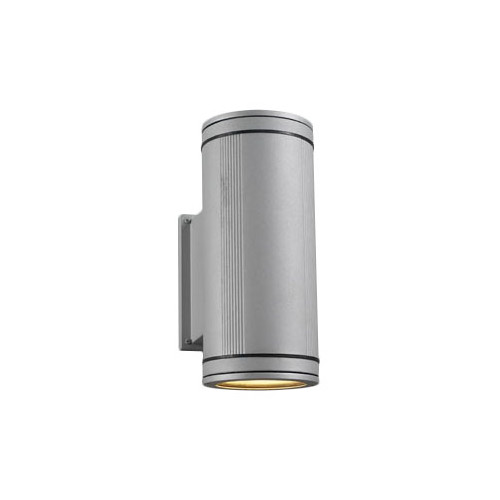 PLC 2 Light Outdoor Fixture Meridian Collection-Finish:Silver,Light:Incandescent