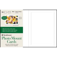 Strathmore Photo Mount Cards, 5in x 7in, White Classic Embossed, 50/Pkg.