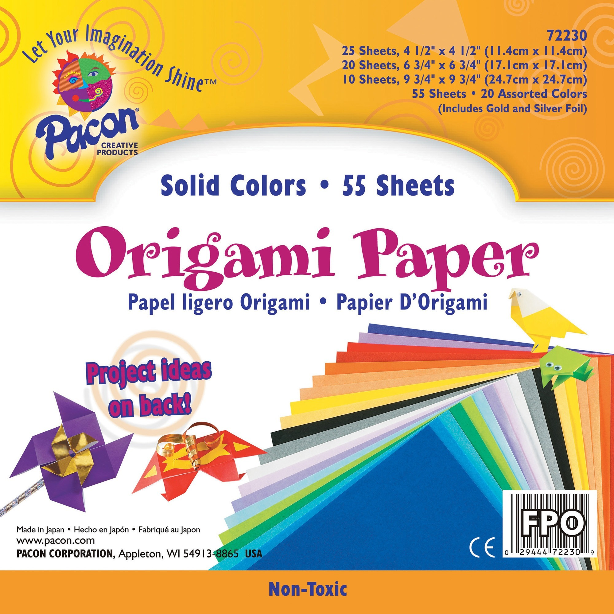 Pacon, PAC72230, Origami Paper, 1 / Pack, Assorted