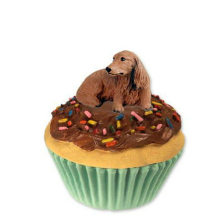 Pc60a Con Dachshund Longhaired Red Pupcake Trinket Box