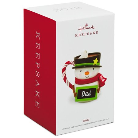 Hallmark Keepsake 2018 Dad Snowman Mug Ornament ()