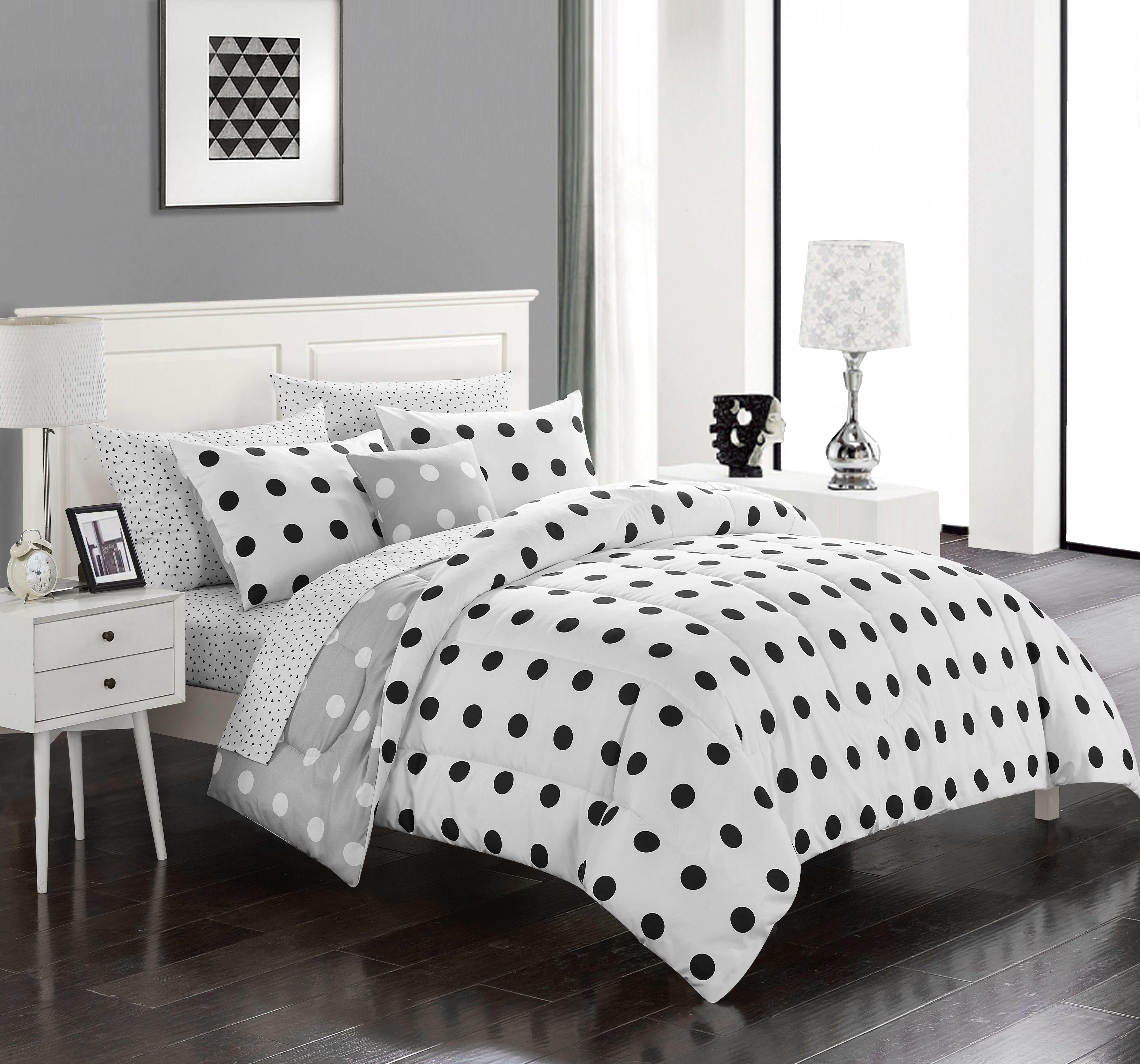 Mainstays Twin Maggie Bed in a Bag Bedding Set, 5 Piece