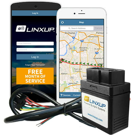 Linxup GPS Vehicle Tracker Locator, Car Tracker for Business Connected Car with Free Month of GPS Service, Wired Version, No