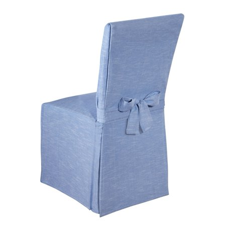 Chambray Full Dining Chair Cover Blue, Blue - Walmart.com