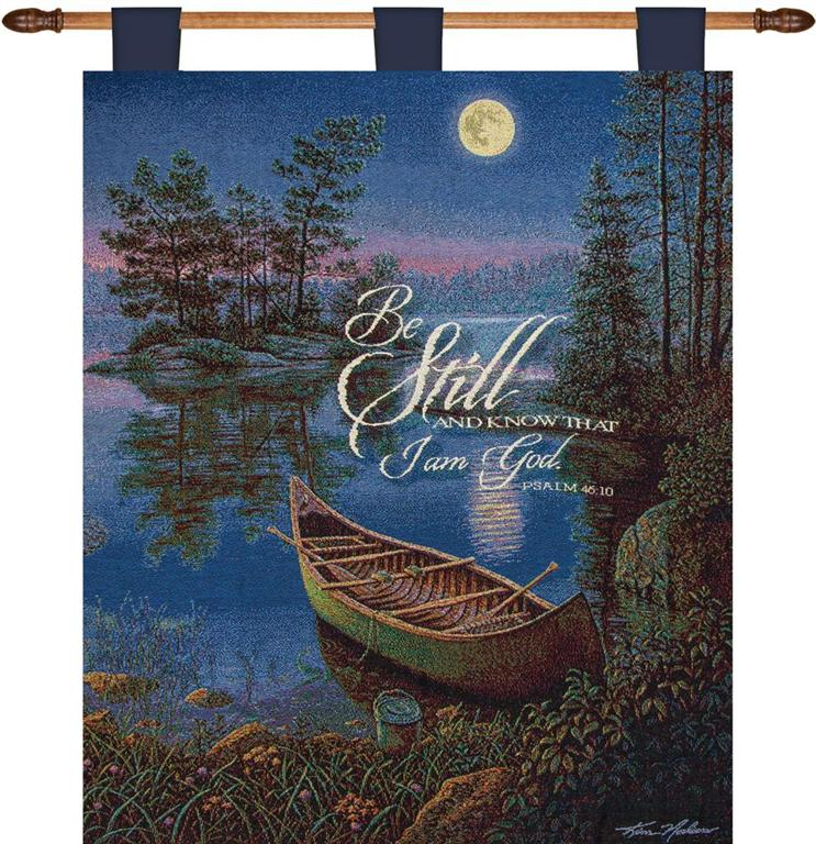 Moonlight Bay Inspirational Tapestry Wall Hanging 26 X 36