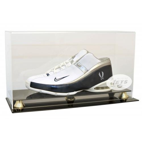 Caseworks NFL-SHOE-2-EL-NYJ New York Jets Single Shoe Display with Gold Risers