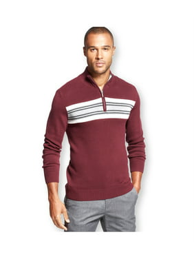 John Ashford Mens Chest Stripe Pullover Sweater
