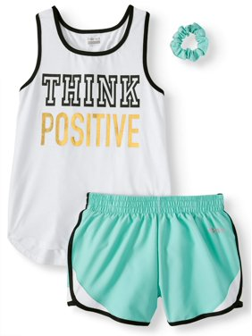 e8f2703828 Product Image Racerback Graphic Tank and Short, 2-Piece Active Set (Little  Girls & Big