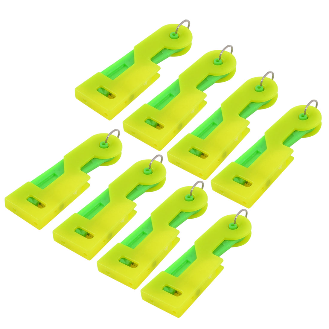 Household Plastic Press Button Yellow Green Sewing Tool Needle Threader 8pcs