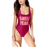 dc5ff177a69 Product Image California Waves Juniors 'Shell Yeah' Graphic One-Piece  Swimsuit Small Wine