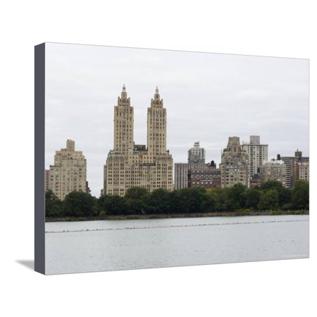 The San Remo Building, Upper West Side, from Central Park, Manhattan, New York City, New York, USA Stretched Canvas Print Wall Art By Amanda