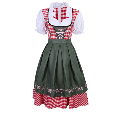 Women's German Mini Dirndl Oktoberfest Fancy Dress Ladies Costume M