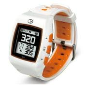 Golf Buddy WT5 Rechargable Golf Distance GPS Watch Range Finder, White/Orange