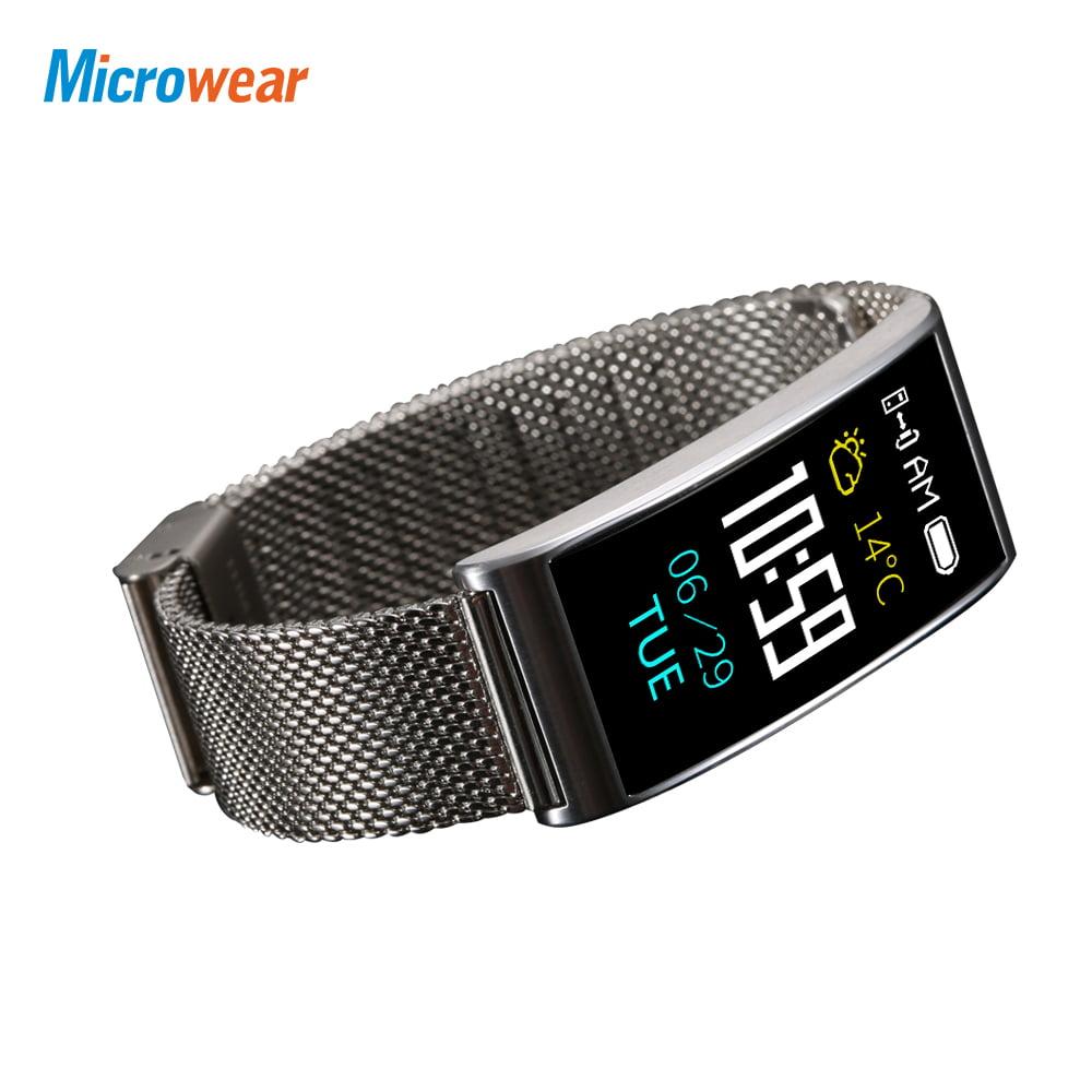 Microwear X3 Waterproof Smart Band Heart Rate Blood Pressure Monitor Sports Recorder GPS Tracking Caller Identification Smart Bracelet 120mAh Battery