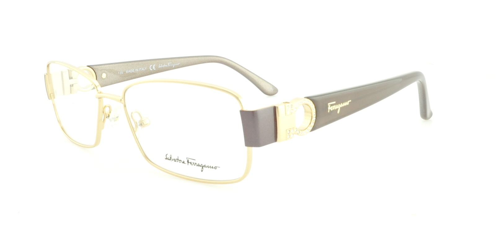 SALVATORE FERRAGAMO Eyeglasses SF2124R 717 Shiny Gold 52MM - Walmart.com
