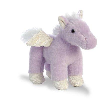 7.5 Inch Plush - Magic Pegasus Purple 7.5 inch - Stuffed Animal by Aurora Plush (02488)