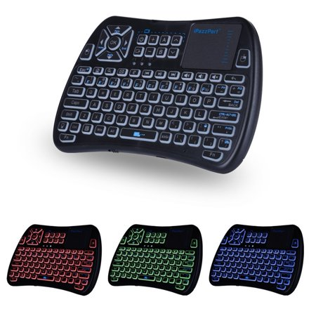 f334ebabff3 (2018 Latest,Backlit+IR Learning) iPazzPort Mini Wireless Keyboard with  Touchpad Mouse