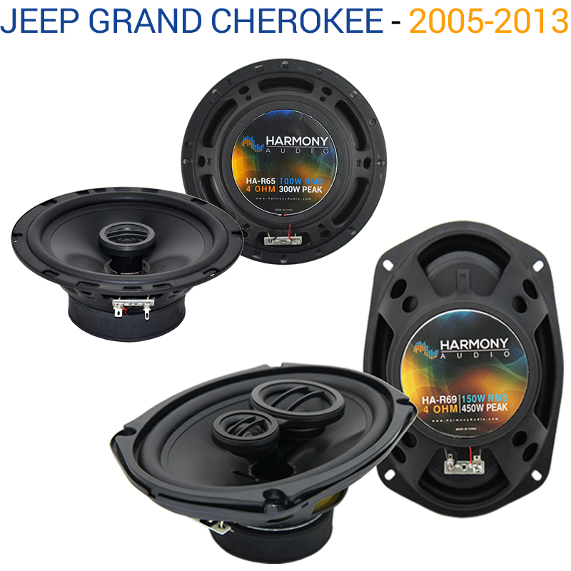 Jeep Grand Cherokee 05-13 OEM Speaker Replacement Harmony R69 R65 Package by Harmony Audio