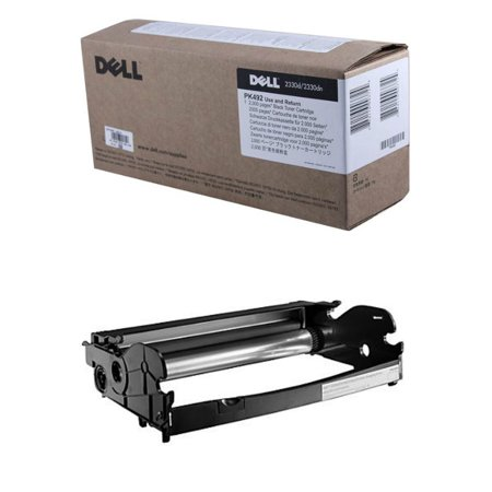 Dell PK492 Toner Cartridge and PK496 Imaging Drum for 2330D, 2330DN, 2350D, 2350DN Laser (Laser Imaging)