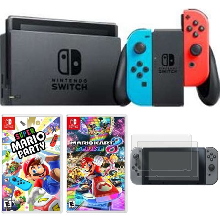 nintendo switch 32 gb console with neon blue and red joy. Black Bedroom Furniture Sets. Home Design Ideas