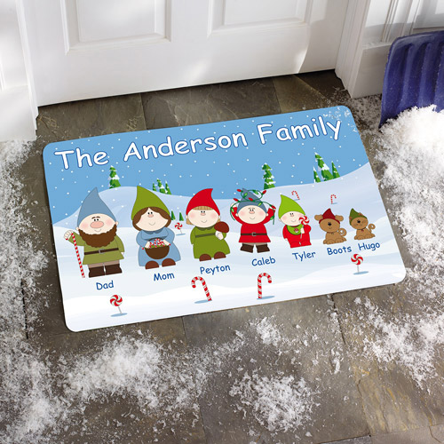 "Personalized Gnome Sweet Gnome 17"" x 27"" Doormat"