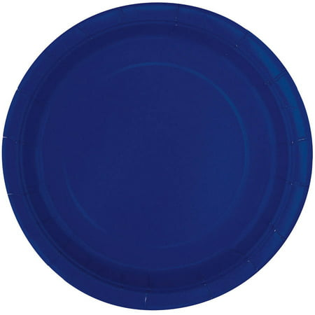 Paper Plates, 7 in, Navy Blue, (Navy Blue Camtainer)