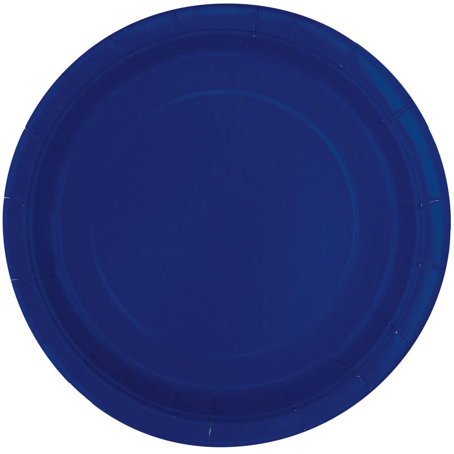 Paper Plates, 7 in, Navy Blue, 20ct