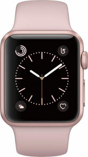 Apple Apple Watch Series 2 42mm Rose Gold Aluminum Case Pink Sand Sport Band Rose Gold Aluminum Smart Smartwatch for... by Apple