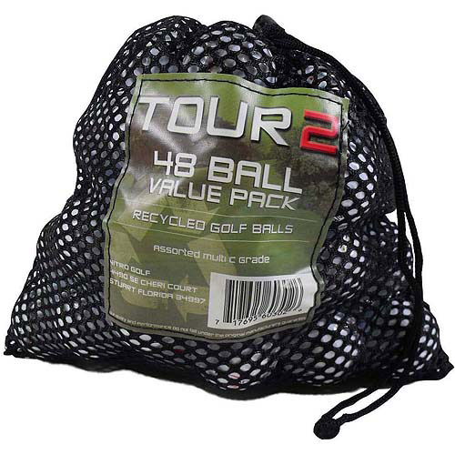 Preowned Maxfli Golf Ball Mix, White, 48-Balls with Mesh Bag