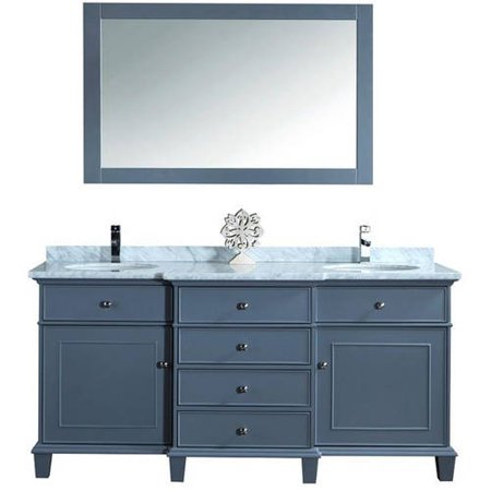 Stufurhome cadence grey 60 inch double sink bathroom - Walmart bathroom vanities with sink ...