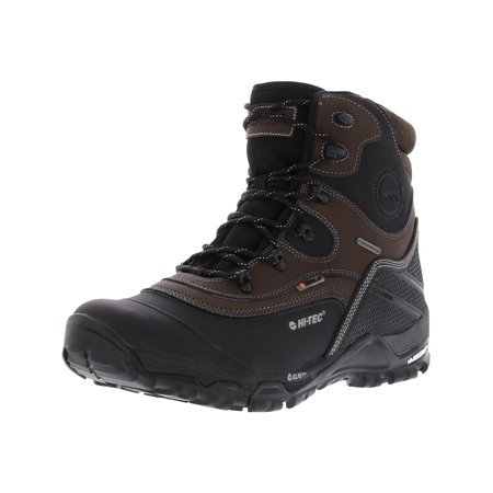 Hi-Tec Men's Trail Ox Winter 200 I Waterproof Chocolate / Black High-Top Leather Hiking Boot - (Best Khombu Waterproof Hiking Boots)