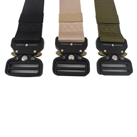 OUTAD Men's Cobra Tactical Belt Nylon Belt Security Multi-Function Belt Armed Belt black - image 7 of 8