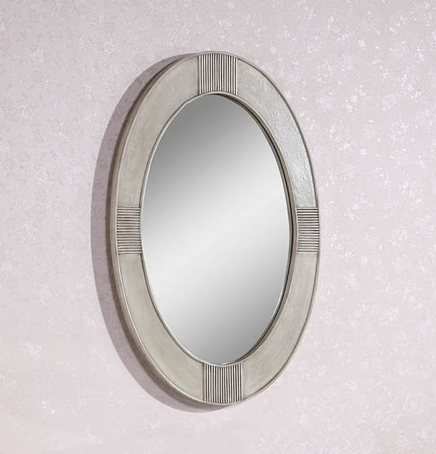39 In. Contemporary Oval Mirror by Legion Furniture