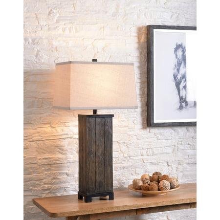 Chuck Wood Grain Table Lamp