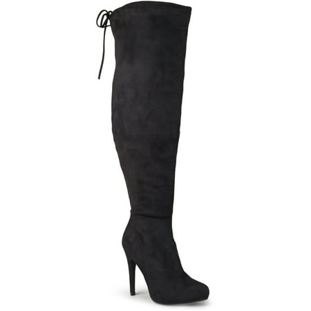 Brinley Co. Womens Wide Calf High Heel Over-the-knee Boots ...