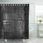 SUTTOM Faux Alligator Black Look Southwest Exotic Rustic Shower Curtain 60x72 inch