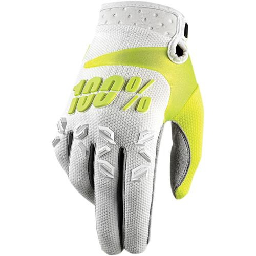 100% Airmatic Mens 2015 MX Offroad Gloves White