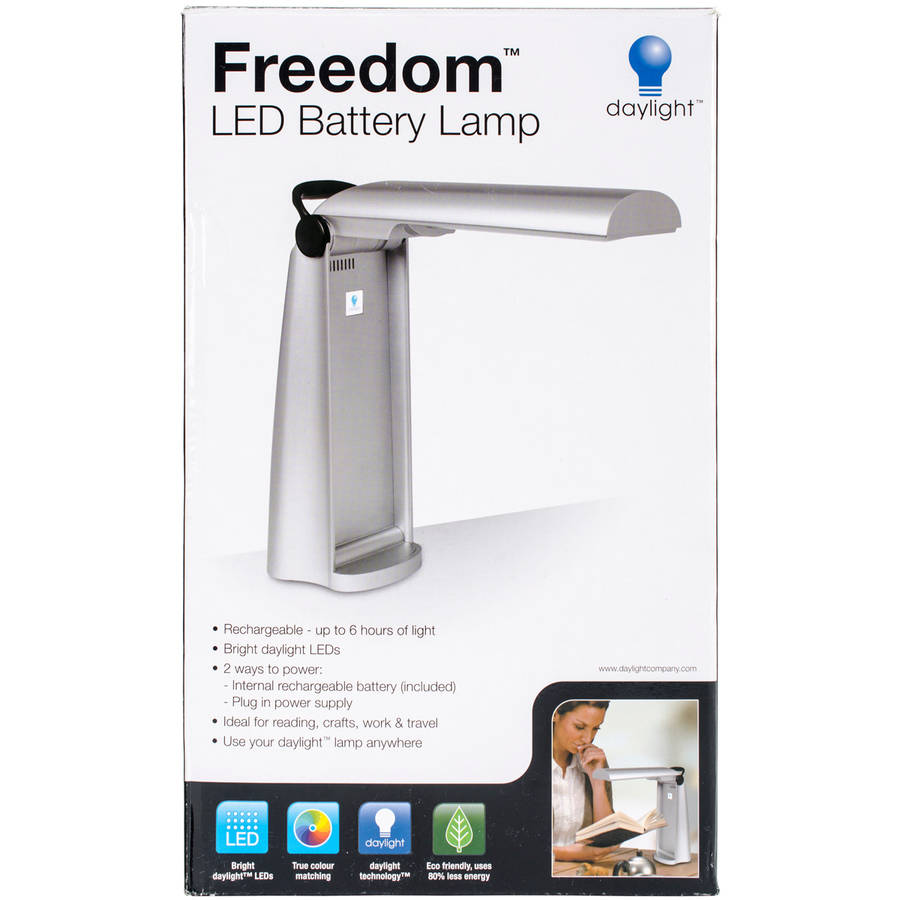 Freedom LED Rechargeable Battery Lamp, Silver