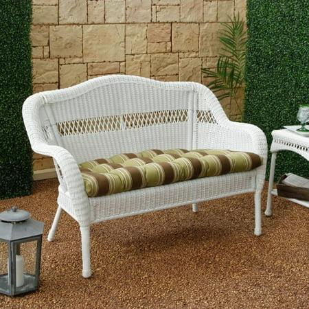 Casco Bay Resin Wicker Loveseat With Optional Cushion