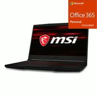 "MSI GF63 15.6"" Gaming Laptop Intel Core i5 8GB RAM 256GB SSD + Office 365 Bundle"