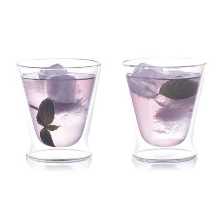 epar 10 oz double wall tumbler glass set of 2. Black Bedroom Furniture Sets. Home Design Ideas