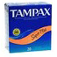 - Tampax Tampons With Flushable Applicator, Super Plus Absorbancy - 20 Each