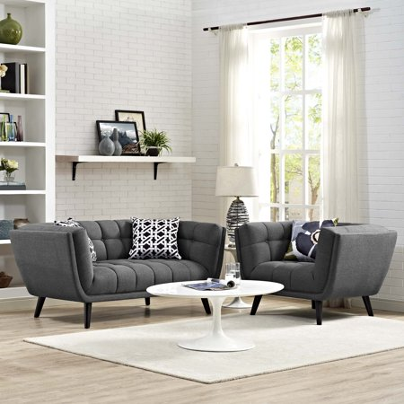 2 Piece Fabric Loveseat - Modway Bestow 2 Piece Fabric Upholstered Loveseat and Armchair Set, Multiple Colors