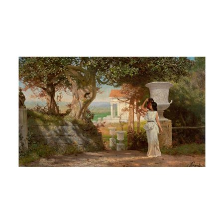 Antiqued Olive (Water Carrier in an Antique Landscape with Olive Trees Print Wall Art By Henryk Siemiradzki )