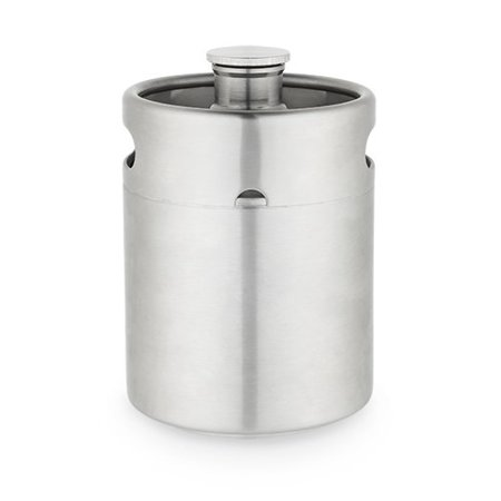 Growler 64oz, Personalized Rubber Seal Insulated Keg Growler 64oz Stainless Steel (Sold by Case, Pack of 4)