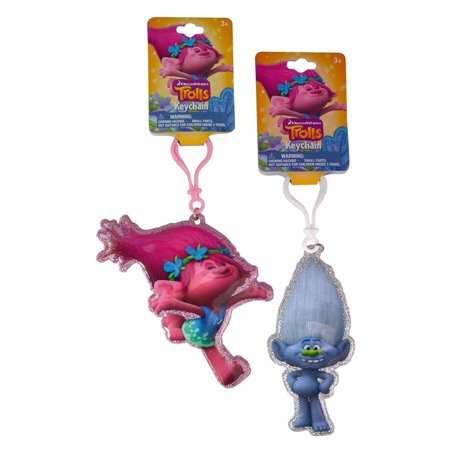 Party Favors Dreamworks Keychain Shaped Printed PVC Zipper Pulls - 2 asst, Take some troll magic wherever you go with this 2 item Trolls Key Chain Set! Hang on.., By Trolls